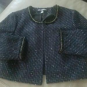 Karl Lagerfeld Cropped Tweet Jacket